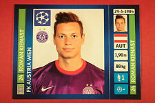 PANINI CHAMPIONS LEAGUE 2013/14 N. 542 KIENAST A. WIEN BLACK BACK MINT!