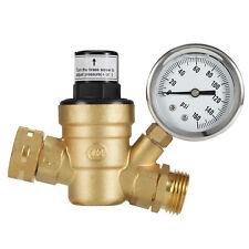 Mictuning C46500 RV Water Pressure Regulator LEADFREE Brass Adjustable