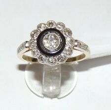 ANELLO ORO 18KT DIAMANTI VINTAGE DIAMOND GOLD RING OR Bague en diamant