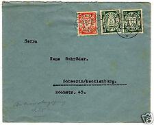 1936/37, Danzig, 3 Briefhüllen mit verschiedenen Maschinenwerbestempeln