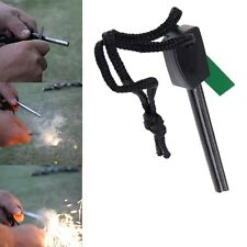 Magnesium Flint And Steel Striker Survival Fire Lighting Stick Camping Hunting