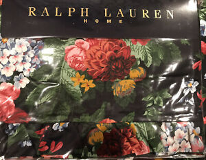 Ralph Lauren Ruffled Twin Flat Sheet Isadora Cossette Pattern New (NWT)