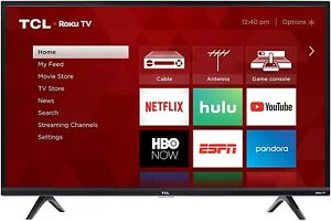 "TCL 32S325 32"" 720p HD Roku Smart LED TV - Black (NEW IN BOX)"