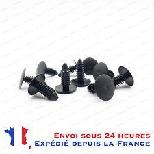 10x Clips plastique noir Auto universel Porte Aile Clip Attache Rivet VW Skoda