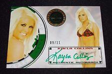 2013 Benchwarmer KAYLA COLLINS Vegas Baby #44 Green Foil Autograph/11 PLAYBOY