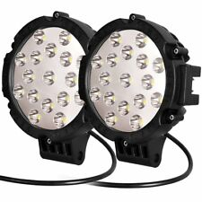 2x Round Led Work Light 7 Inch Spot Off Road Fog Driving for Boat 4x4 Jeep Lamp