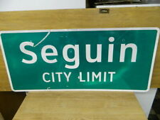 "Authentic Retired Seguin Texas City Limit Highway Sign 24""X54"""