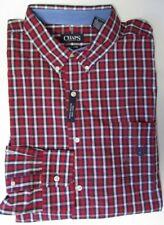 NWT CHAPS Easy Care Button Down Red Plaid Casual Shirt  Size XXL