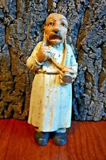"Vintage look Doctor Figurine-Stethascope &Thoughtful Finger to Cheek-4.5"" tall"