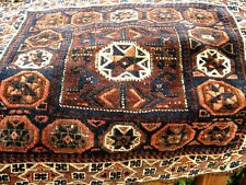 1870 -1880  ANTIQUE  VERY FINE  KNOTS  BLOUCH  BAG FACE  WITH GREAT COLORS