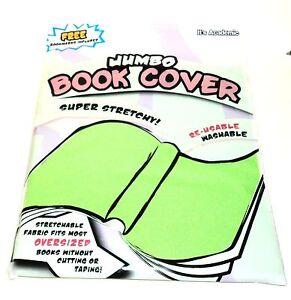 JUMBO BOOK COVER Super Stretchy Fits Most Oversized Books Washable Sku01NIP