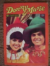 Donny & Marie Softcover Book Golden All Star Book Illustrated By Jose Delbo 1977
