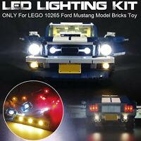 Jeu de lumières LED UNIQUEMENT pour LEGO 10265 Ford Mustang Model Bricks Light