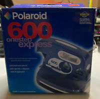 Vintage Polaroid 600 One Step Express Instant Camera Boxed Green