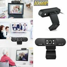 HD 1080P micrófono LED Cámara Web cam Obturador Webcam USB para PC Portátil Mac
