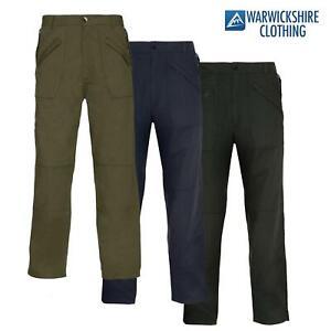 Champion Mens Wenlock Trousers Multi Zip Pocket Walking Work Travel Cargo