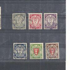 Danzica, Gdansk 1935 Michel numero: 245 - 250 o, timbrato o, valore di Catalogo € 25,00