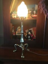 Arts & Crafts Nouveau Brass table bedside desk reading Pullman lamp Benson style