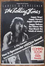 Ladies & Gentlemen The Rolling Stones 1974 Movie Poster Town Theatre