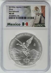 2019 Mexico Libertad Silver 1 oz NGC MS69 Certified Coin Onza Plata - JJ637