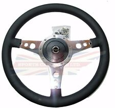 "New 14"" Moto Lita Leather Steering Wheel & Hub Adaptor Sunbeam Alpine Tiger"