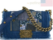 Chanel Denim Patchwork Small Boy Classic Flap Bag 62608