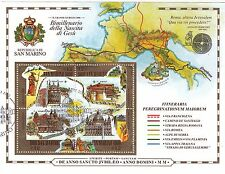Foglietto BF USATO San Marino 2000 Bimillenario nascita di Gesù ANNULLO SPECIALE