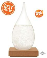 Storm Glass Water Drop Weather Forecast Barometer Crystal Ornament Display UK