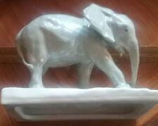 Beautiful Antique Gray Elephant porcelain figurine by Schwarzburger Werkstatten!