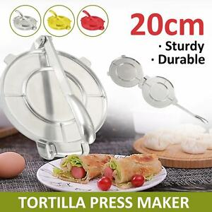 8 Inches Press Maker Tool Aluminium Heavy Gauge Manual Restaurant Tortilla