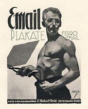 Ferro Email Dold Offenburg Ludwig Hohlwein Gay Reklame 1926 (N)