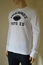 NEW Abercrombie & Fitch Cobble Hill Long Sleeve White Tee T-Shirt S RRP £50