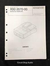 Original Kenwood X92-3570-00 MD Mechanism Assy Service Manual
