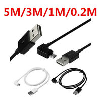 Micro USB Universal Right Angle 90 Degree Fast Charging Charger Sync Data Cable