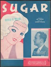 SUGAR jazz song DON BIGELOW AND HIS ORCHESTRA Art Deco Lady GEORGE W. MEYER 1931