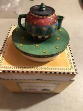 OUR AMERICA GIFT Tea Pot Candle Topper Christmas Tree Pot #8046