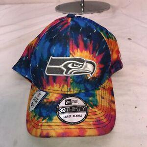 New Era 2020 NFL Seattle Seahawks Sideline Crucial Catch Tie Dye L/XL  Hat