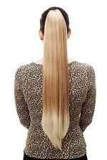 Postiche/Tresse,très long,lisse,épingle à cheveux-papillon,70cm,blonde mélange,