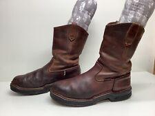 Vtg Mens Wolverine Steel Toe Work Burgundy Boots Size 10 M