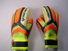 Reusch Soccer Goalie Gloves PULSE Prime S1 Finger Support 3670200S ORANGE PALMS