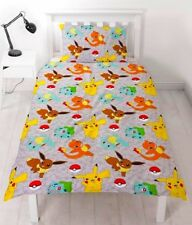 POKEMON CATCH SINGLE DUVET COVER PIKACHU SQUIRTLE CHARMANDER BEDDING GIFT