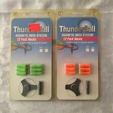 Thunderball Magnetic Nock System 12 Pack Nocks, Lot of 2