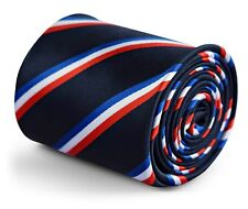 Frederick Thomas navy French flag tie red, white & blue stripe France World Cup