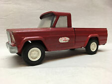 Vintage Tonka Jeep Pickup Truck Red Trailer Hauler