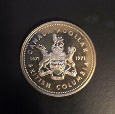 "1871-1971 Canada British Columbia Silver Dollar uncirculated  ""NICE"""