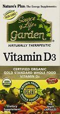 Natures Plus - Source Of Life Garden Vitamin D3 5000 IU - 60 Vegetarian