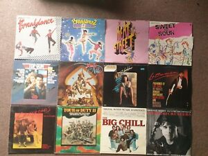 FILM SOUNDTRACK 12 X LP LOT BREAKDANCE EDDIE AND THE CRUISERS tour of duty etc