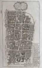 1754 Antique map: Breadstreet & Cordwainer Wards, London - Stow's Survey