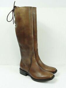 "Ariat Women's Sawyer Square Toe 17"" Natural Cognac Vintage Western Boots Size 7"