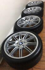 "GENUINE 19"" BMW SILVER MV4 225M ALLOY WHEELS X4 8J & TYRES - 225 35 19"